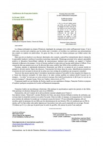 Argument Conférence de Françoise Guérin