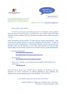 jpeg pdf Newsletter N°1 mars 2020 RestezàlaMaison