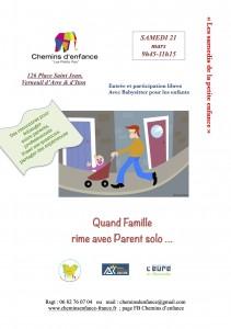 21 mars 20. familles MONOPARENTALES